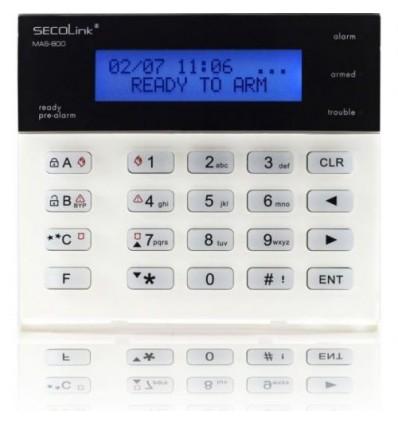 Tastatura alarma Secolink KM20BT, LCD, 2 randuri x 16 caractere, termometru incorporat