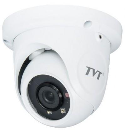 Camera IP TVT TD-9524S1(D/PE/AR1), Dome, 2MP, 3.6mm, 2 LED Array, IR 20m